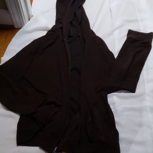 Lightweight hooded brown jacket New York & Company